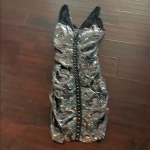 Sequins evening dress fully lined worn only